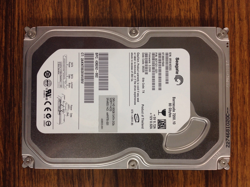 Seagate/ST350515AS/パソコン内臓(起動ディスク)